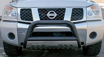Aries 3 inch pro series bull bar on a Nissan