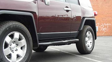 Aries 3 inch round bars on a toyota FJ cruiser