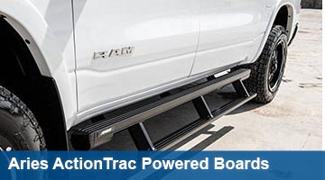 Aries ActionTrac Powered Running Boards - cab length
