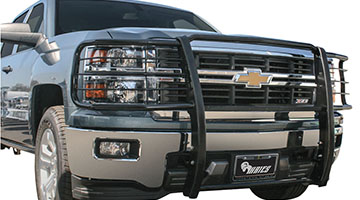 Aries Grille Guard black finish on a Chevy