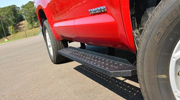 Aries RidgeStep Commercial Running Boards up close
