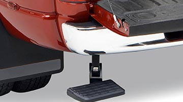 Amp-Research BedStep - Bumper Step - Rear View