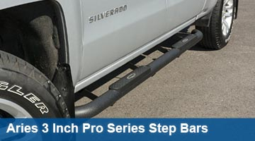 Aries 3 inch pro series round bars - cab length