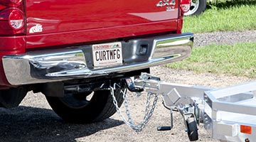 curt receiver hitch towing trailer
