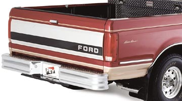 FEY Diamondstep on a red Ford Heavy Duty Pickup