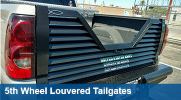 Handy 5th Wheel Lourvered Tailgates