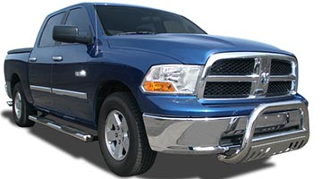ICI 4 Inch oval bars on a Dodge Ram