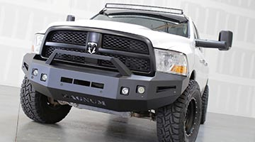 Magnum Front Bumper Installed on a Dodge Ram