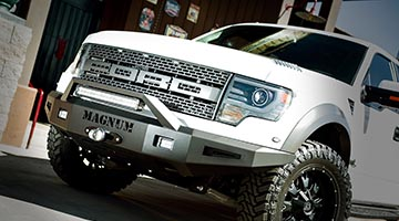 Magnum Front Bumper Installed on a Ford F-150 Raptor