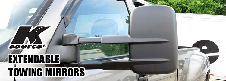 Extendable Towing Mirrors by K-Source : QualityBumper.com