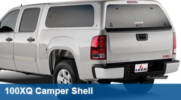 LEER 100XQ Deluxe Cab High Camper Shell