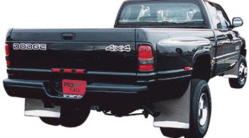 Pro Flaps Custom Mud Flaps on a Dodge Ram