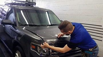 Install of Paint Protection Film on the Hood of a Ford Flex