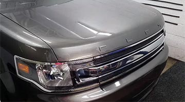 Finished Install of Paint Protection Film of hood & fender on a Ford Flex