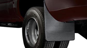 Mud Flaps on a Dually