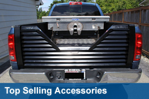 Top Sellers - 5th Wheel Tailgates, Sliding Rear WIndows, Amp-Research PowerSteps, Duraliner Bedliners